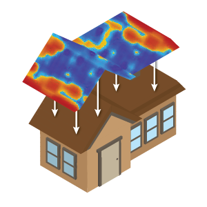 MyHEAT map of house roof
